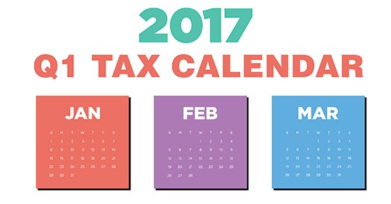 2017 tax deadlines